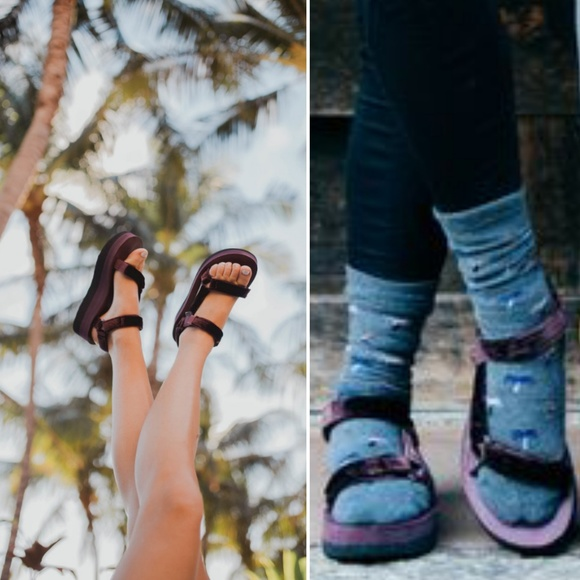 66bc556c65a Teva Flatform Universal Velvet Sandals. M 5bbe9fdb8ad2f907ec331374